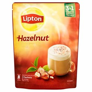 3 Pack Lipton Hazelnut Milk Tea Latte 3 in 1 Premium Instant Tea Mix - Free Express Delivery
