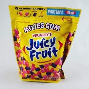 Wrigley's Juicy Fruit Mixies Gum, Original, Watermelon, Strawberry, Grape, 8.5 oz