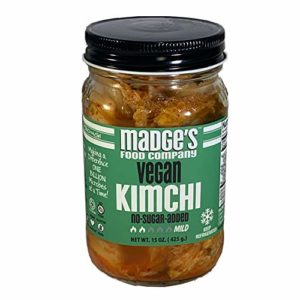 Madge's Premium Vegan Kimchi Mild 15 oz- No-Sugar Added - Fermented
