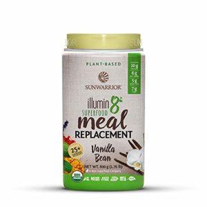 Sunwarrior - Illumin8 Plant-Based Superfood Meal Replacement, Organic, Vegan, Non-GMO (Vanilla Bean, 20 Servings)