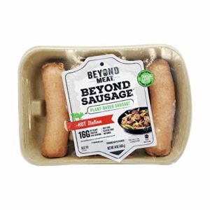 Beyond Meat Hot Italian Plant-based Sausage, 14 oz (4 Pack, 16 Links Total)