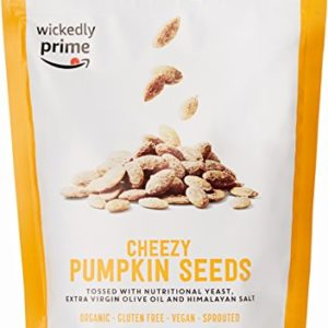 Wickedly Prime Organic Sprouted Pumpkin Seeds, Cheezy, 12 Ounce