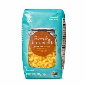 Simply Balanced Gluten Free Elbows Corn & Rice Blend Pasta 12OZ (One Pack)