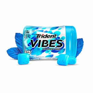 Trident Vibes Peppermint Sugar Free Gum - 1 Bottle (40Piece Total)