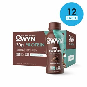 OWYN, Vegan Protein Shake, Dark Chocolate,12 Fl Oz (Pack of 12), 100-Percent Plant-Based, Dairy-Free, Gluten-Free, Soy-Free, Tree Nut-Free, Egg-Free, Allergy-Free, Vegetarian, Kosher ...