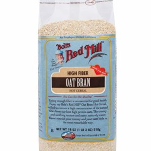 Bob's Red Mill Oat Bran Hot Cereal, 18 Ounce (Pack of 4)