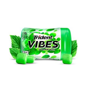 Trident Vibes Spearmint Rush Sugar Free Chewing Gum - 4 Bottles (160Piece Total)