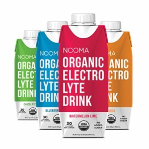 NOOMA Organic Electrolyte Sports Drink | Naturally Hydrating, Coconut Water Base | Certified Keto, Vegan, Gluten Free and More | No Added Sugar, 30 Calories | Variety Pack 16oz (Pack of 12)
