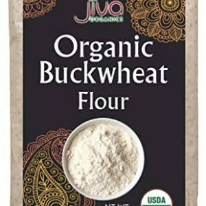 Organic Buckwheat Flour Light 2 LB - Vegan, Non-GMO - by Jiva Organics