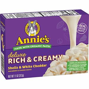 Annie's Deluxe Creamy Rotini & White Cheddar Sauce Macaroni & Cheese, 12 Boxes, 9.3oz (Pack of 12)