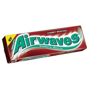 Wrigley's Airwaves Cherry Menthol - 14g - Pack of 10 (14g x 10)