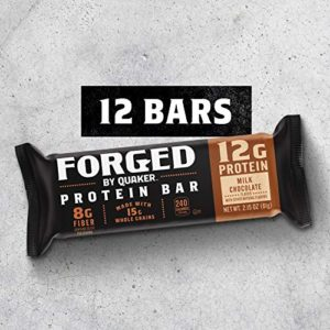 Quaker Forged Protein Bars, Milk Chocolate, 2.15oz Bars (12 Pack)