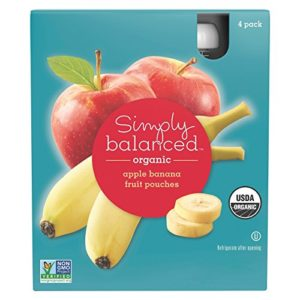 Apple Banana Fruit Pouches 4ct - Simply Balanced