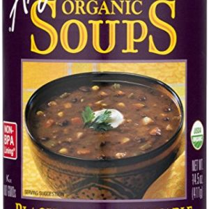 Amy's Organic Black Bean Vegetable Soup, Low Fat, Vegan, 14.5-Ounce (Pack of 12)