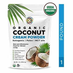 Earth Circle Organics - organic coconut cream | milk powder, perfect keto coffee creamer - high in mct oil, vegan, no gluten or dairy - 1 pound