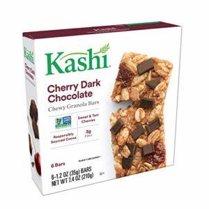 Kashi Chewy Cherry Dark Chocolate Granola Bars - Vegan | Box of 6