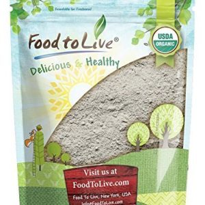 Organic Dark Rye Flour by Food to Live (Whole Grain, Non-GMO, Stone Ground, Kosher, Raw, Vegan, Bulk, Great for Baking Bread, Product of the USA) - 1 Pound