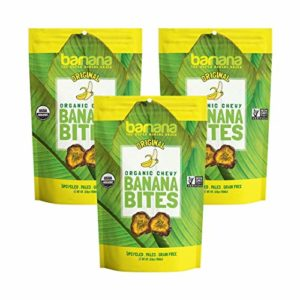Barnana Organic Chewy Banana Bites - Original - 3.5 Ounce, 3 Pack Bites - Delicious Barnana Potassium Rich Banana Snacks - Lunch Dinner Sports Hiking Natural Snack - Whole 30, Paleo, Vegan