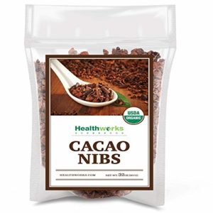 Healthworks Cacao/Cocoa Nibs Raw Organic (32 Ounces / 2 Pound) | Unsweetened Chocolate Substitute | Certified Organic | Keto, Vegan & Non-GMO | Antioxidant Superfood | Peruvian Bean/Nut Origin