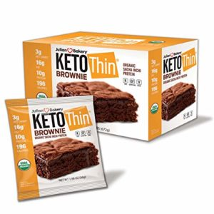 Julian Bakery® Keto Thin® Brownie   USDA Organic   Vegan   Gluten-Free   3 Net Carbs   12 Brownies  