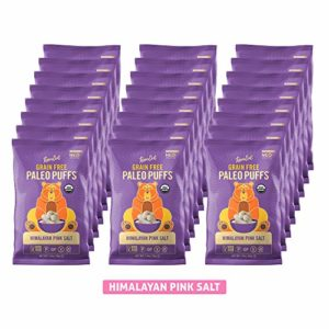 LesserEvil Grain Free Vegan Paleo Puffs, Himalayan Pink Salt, 1 oz (Pack of 24)