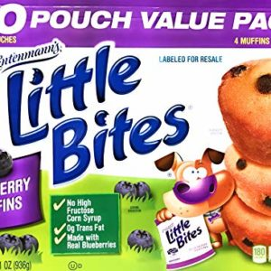 Entenmann's | Little Bites | Blueberry Muffins | 2 LBS 1 OZ | 936g | 20 Pouches 80 Muffins |Delicious | Yummy |Tasty | 1 Box