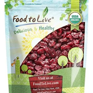 Organic Dried Cranberries, 8 Ounces - Non-GMO, Kosher, Unsulfured, Bulk