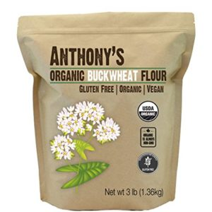 Anthony's Organic Buckwheat Flour, 3lbs, Grown in USA, Gluten Free, Vegan