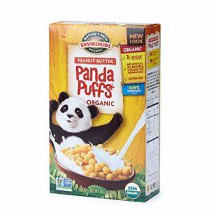 Nature's Path EnviroKidz Peanut Butter Panda Puffs Cereal, Healthy, Organic, Gluten-Free, 10.6 Ounce Box (Pack of 6)