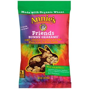 Annie's Friends Bunny Grahams, Honey/Chocolate/Chocolate Chip, Graham Snacks, 3 oz Bag (Pack of 12)