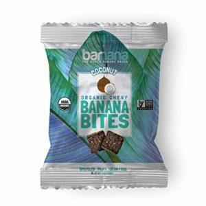 Barnana Organic Chewy Banana Bites - Coconut, 1.4 Ounce (12 Count) - Healthy Vegan Banana Fruit Snacks - Made with Sustainable, Eco Friendly Upcycled Bananas