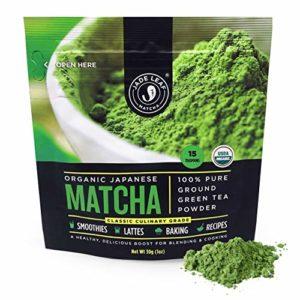 Jade Leaf Matcha Green Tea Powder - USDA Organic, Authentic Japanese Origin - Classic Culinary Grade (Smoothies, Lattes, Baking, Recipes) - Antioxidants, Energy [1 Ounce (30 Gram) Starter Size]