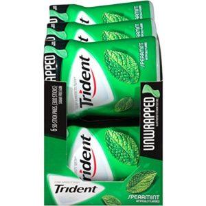 Trident Unwrapped Sugar Free Gum, Spearmint, 50-Piece, 6-Pack)