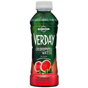 Verday Chlorophyll Water, Watermelon, Paleo, Vegan, Keto, Detox and Diet Friendly, Non-GMO, Gluten-Free, No Preservatives, No Diet Sweeteners, Zero Calories, 16oz (Pack of 12)