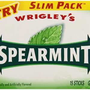 Wrigleys Spearmint, 15-Count (Pack of 10)