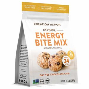 """ENERGY BITE MIX ~ No-bake, Minutes to Make! Makes 24 ENERGY BALLS & BITES. """"Oat Yes Chocolate Chip"""" is Vegan, Soy Free, Gluten Free, Purity Protocol"""