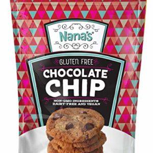 Nana's Gluten Free Chocolate Chip Cookies | Vegan, Dairy Free, Nut Free, Non GMO, Preservative Free, 7 oz