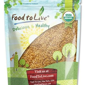 Organic Golden Flaxseed (Whole, Raw, Non-GMO, Kosher, Bulk) by Food to live - 1 Pound