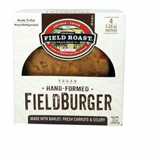 Field Roast Hand-formed Fieldburger, 13 oz (1 pack, 4 Patties total)