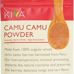 Kiva Organic Camu Camu Powder - Vitamin C, Antioxidants, Non-GMO, Raw, Vegan, 3.5-Ounce Bag
