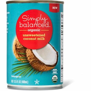 Simply Balanced Organic Unsweetened Coconut Milk, 13.5 OZ (One Pack)