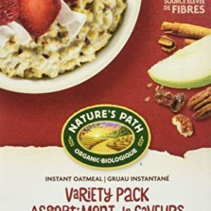 Nature's Path Variety Pack Instant Oatmeal, Healthy, Organic, 8 Pouches per Box, 14 Ounces (Pack of 6)