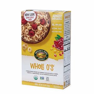Nature's Path Whole O's Cereal, Healthy, Organic, Gluten-Free, Low Sugar, 10.6 Ounce Box (Pack of 6)