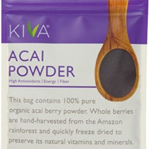 Kiva Organic Acai Berry Powder - Freeze-Dried, Non-GMO, RAW, Vegan (4.0-Ounce)