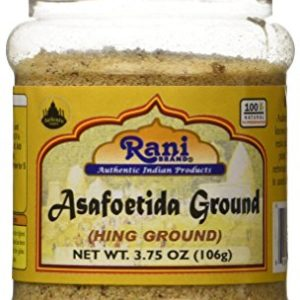Rani Asafetida (Hing) Ground 3.75oz (106g) ~ All Natural | Salt Free | Vegan | NON-GMO | Indian Spice