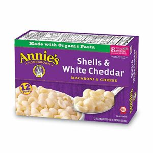 Annie's Macaroni and Cheese, Shells & White Cheddar Mac and Cheese, 6 Ounce, Pack of 12