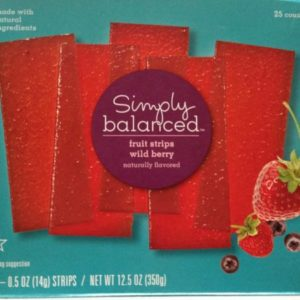 2 Pack - Simply Balanced Natural Wild Berry Fruit Strips 25 ct