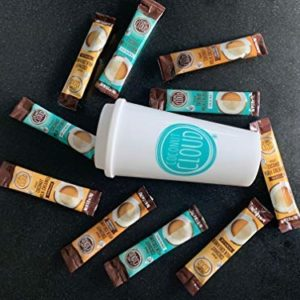 Coconut Cloud: Dairy Free Coffee Creamer Sample Pack + Travel Mug ~ Made from Coconut Powder Milk with MCT Oil | Vegan Gift Pack! (Vanilla, Original + Salted Caramel), 9 servings