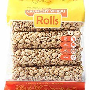 Kim's Magic Pop Crunchy Rolls   8 Rolls Per Pack   Gluten Free, Vegan, Vegetarian   Natural Ingredients   No Fat, No Sodium, No Cholesterol   Healthy, Sweet Snack (Wheat Rolls, 1 Pack)