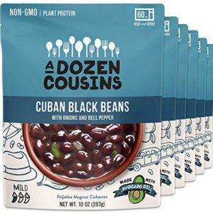 A Dozen Cousins Ready to Eat Beans | Vegan, Non-GMO Cuban Black Beans, 10 ounce (Pack of 6)